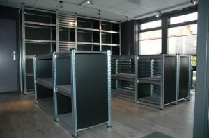 Metalsistem legbordstelling accessoires kopwand