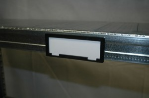 Metalsistem legbordstelling accessoires etikethouder
