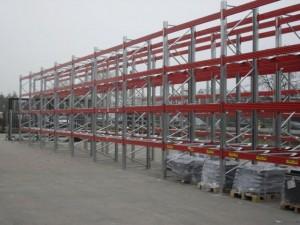 Metalsistem unibuild palletstelling buiten
